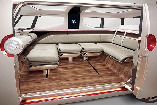发布时间:2015-10-04 17:47:21 日前,铃木发布了Air Triser概念车的官图,其略显呆萌、方正的造型以及车内空间的灵活性成为了最大亮点。据悉,铃木Air Triser概念车将在10月底开幕的东京车展上正式发布。     从本次发布的官图可以看到,Air Triser概念车采用红、白车身配色,车身长度为4191mm,造型采用类似厢式货车的盒子式设计。归功于狭长的灯组造型,整个车辆前脸呈现出一幅人脸的错觉。此外新车的车顶设置有两个天窗,侧部车门采用滑动对开的方式。另外,该车装配了双五辐